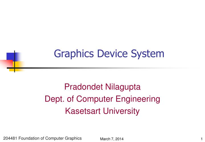 Graphics device system