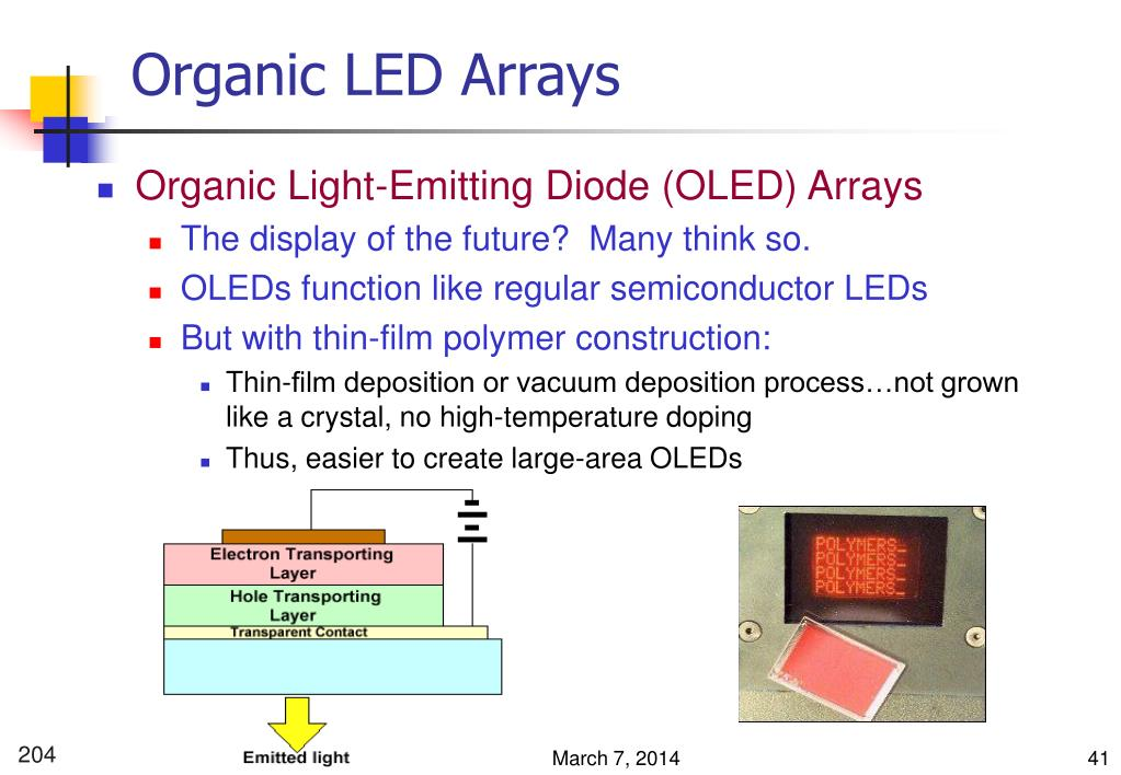 Organic LED Arrays