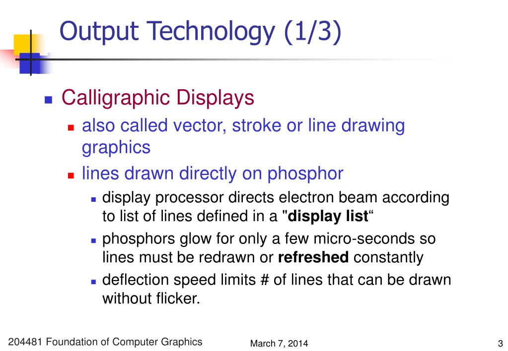 Output Technology (1/3)