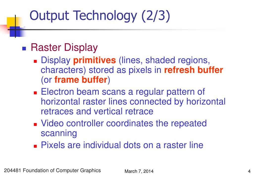 Output Technology (2/3)