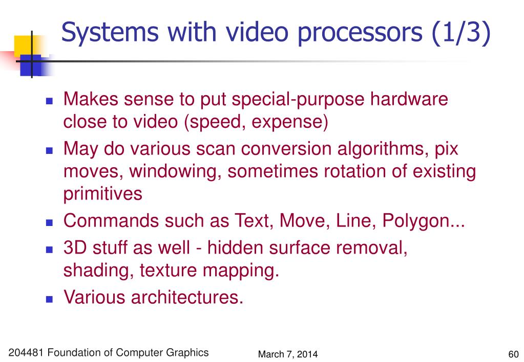 Systems with video processors (1/3)