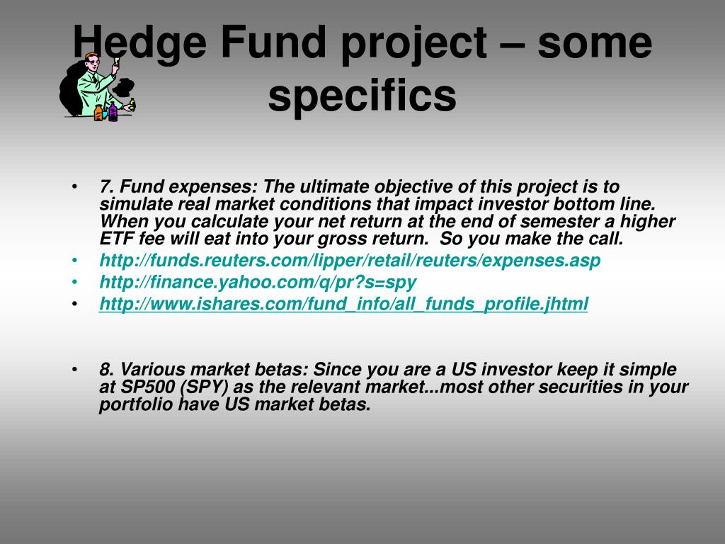 Hedge Fund project – some specifics