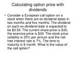 calculating option price with dividends