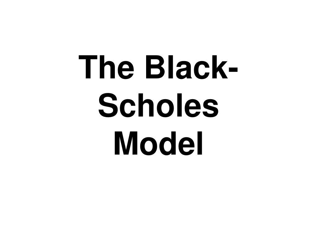 the black scholes model l.
