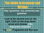 the guide to grammar and writing30