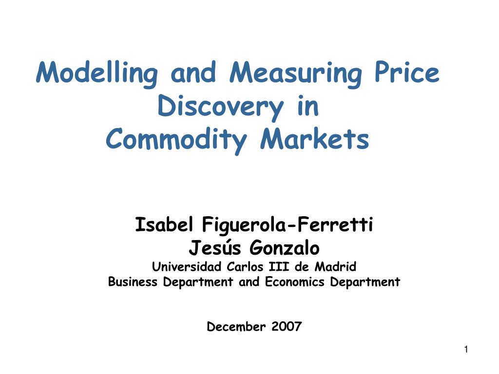 Modelling and Measuring Price Discovery in