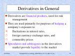 derivatives in general