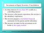 investments in equity securities consolidation