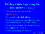 editing a web page using the pico editor 1 of 2 slides