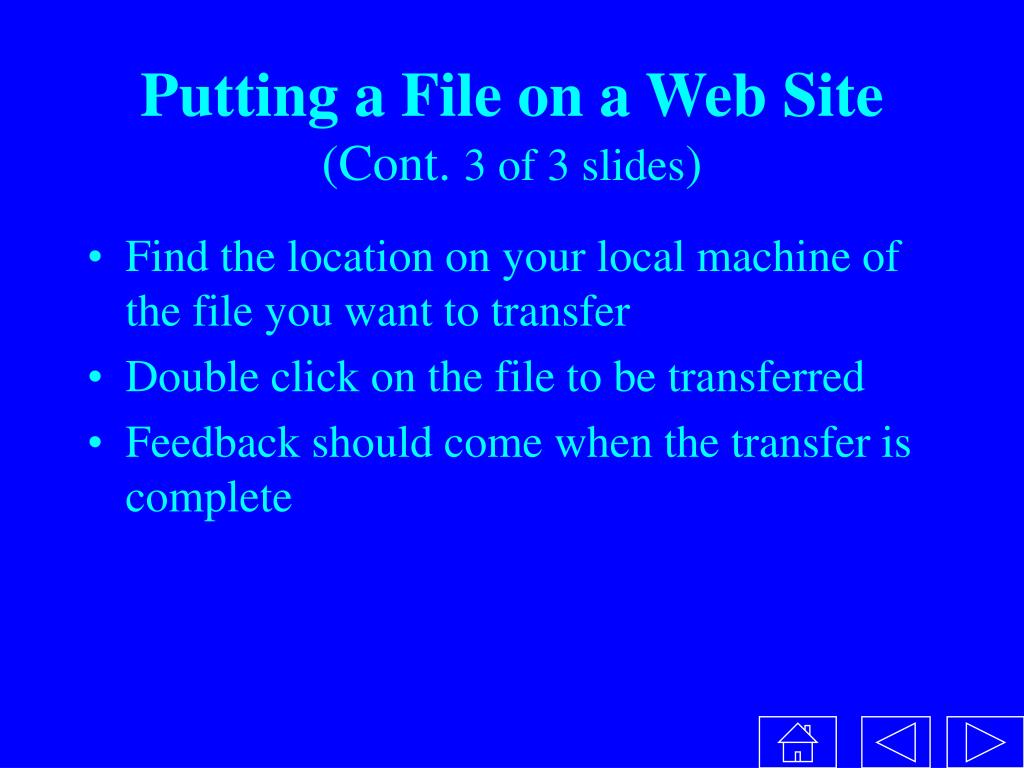 Putting a File on a Web Site