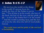 1 john 2 15 17
