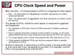 cpu clock speed and power
