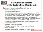 hardware components on the system board continued