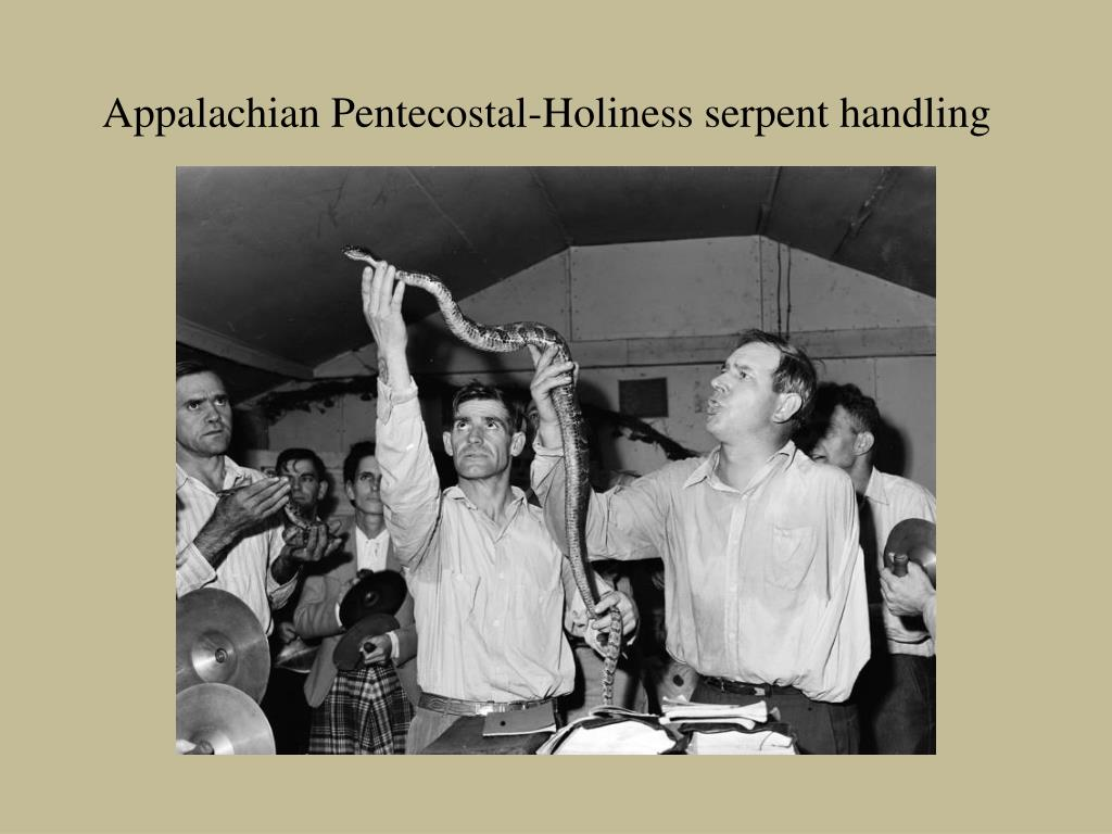 appalachian pentecostal holiness serpent handling l.