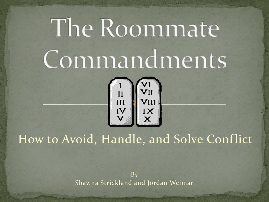 the roommate commandments