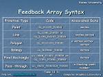 feedback array syntax