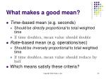 what makes a good mean