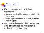 color cont