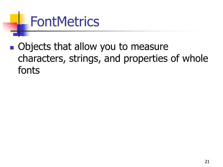 FontMetrics