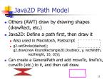 java2d path model