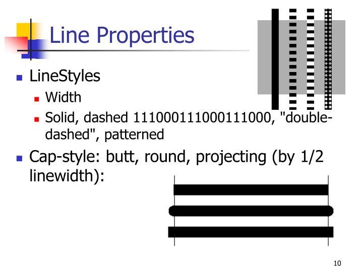 Line Properties