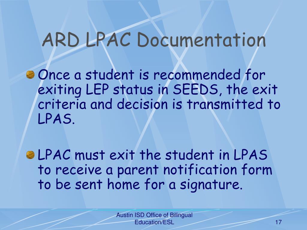 ARD LPAC Documentation