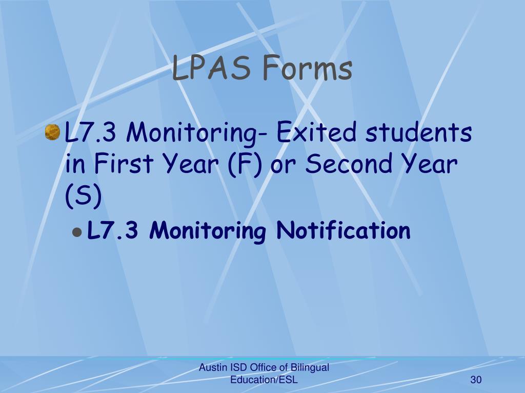 LPAS Forms