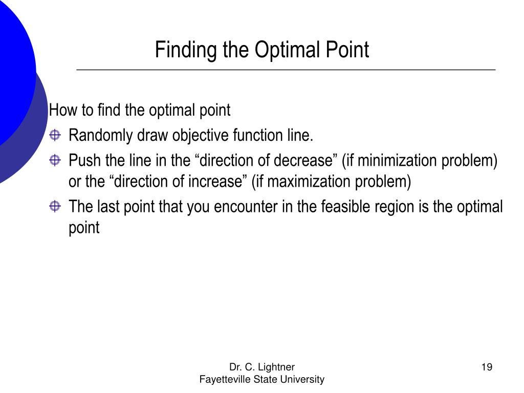Finding the Optimal Point