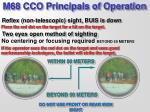 m68 cco principals of operation