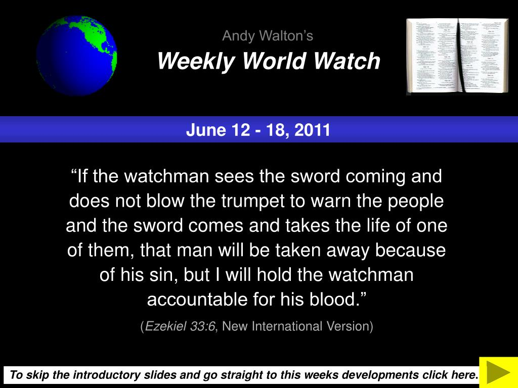 Weekly World Watch