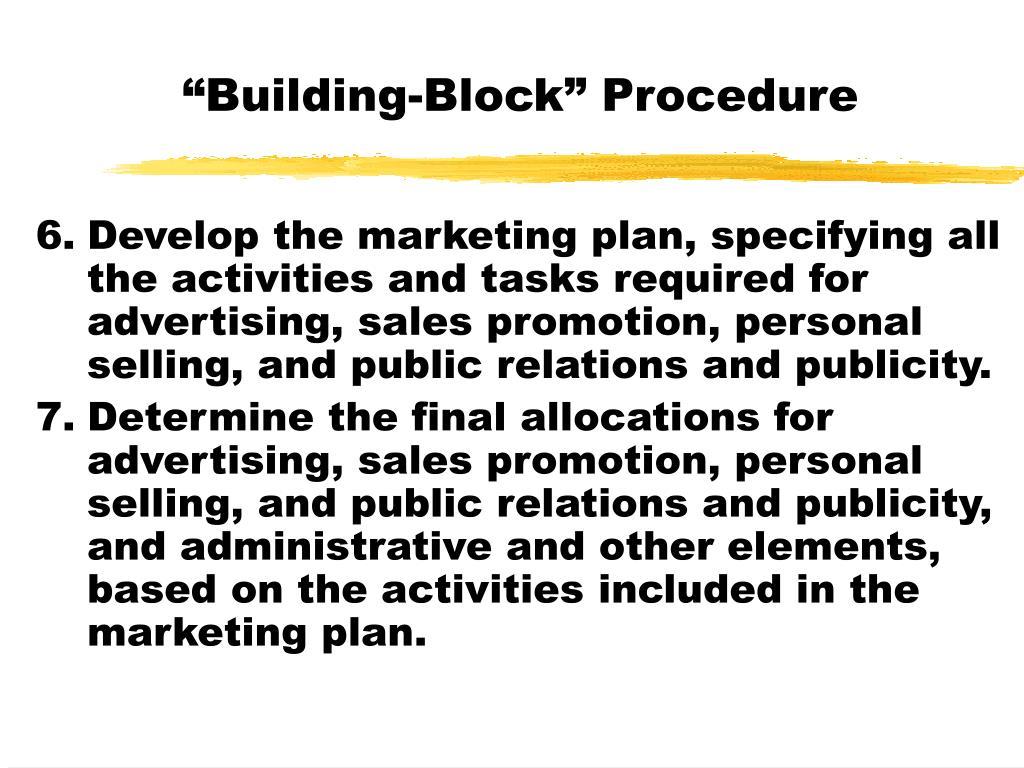 """""""Building-Block"""" Procedure"""