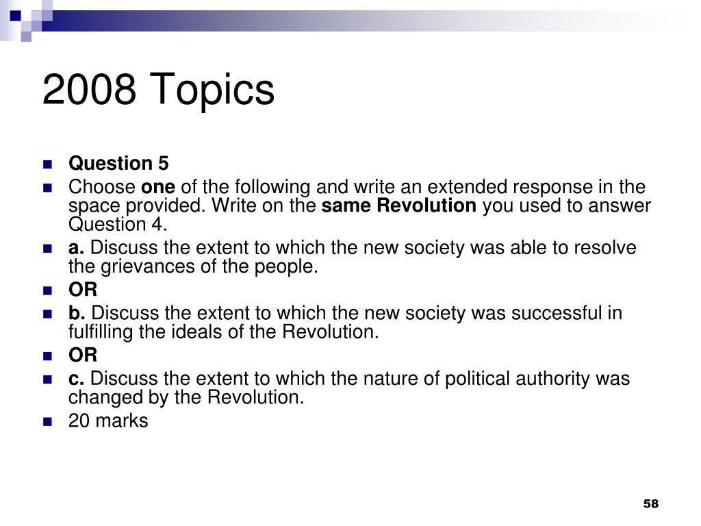 2008 Topics