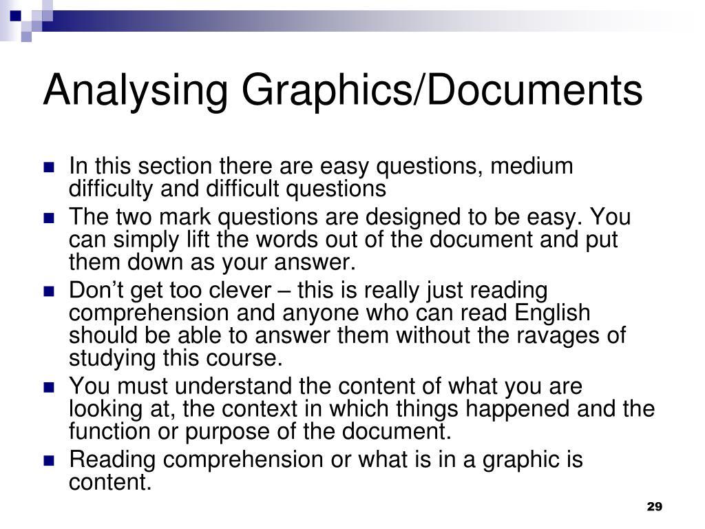 Analysing Graphics/Documents