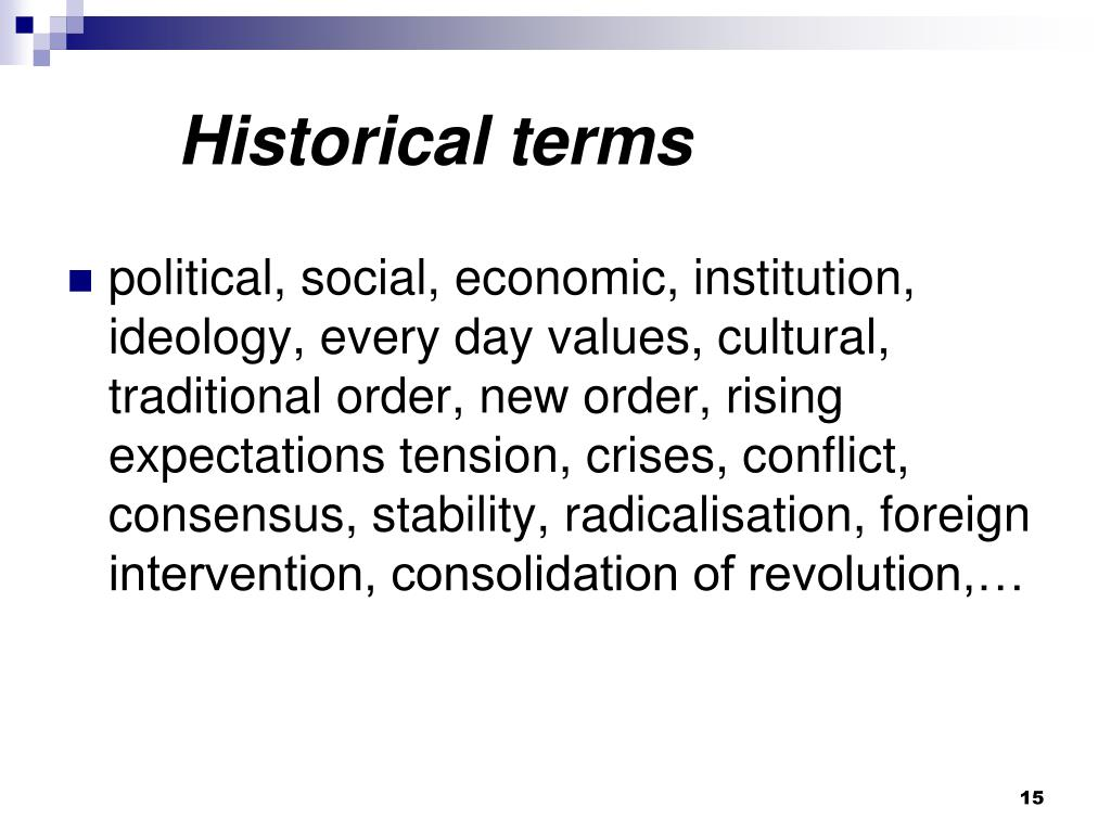 Historical terms