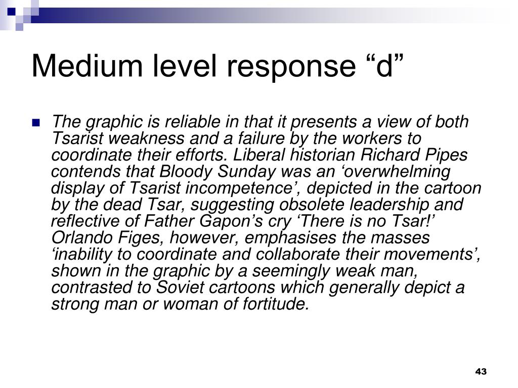 "Medium level response ""d"""
