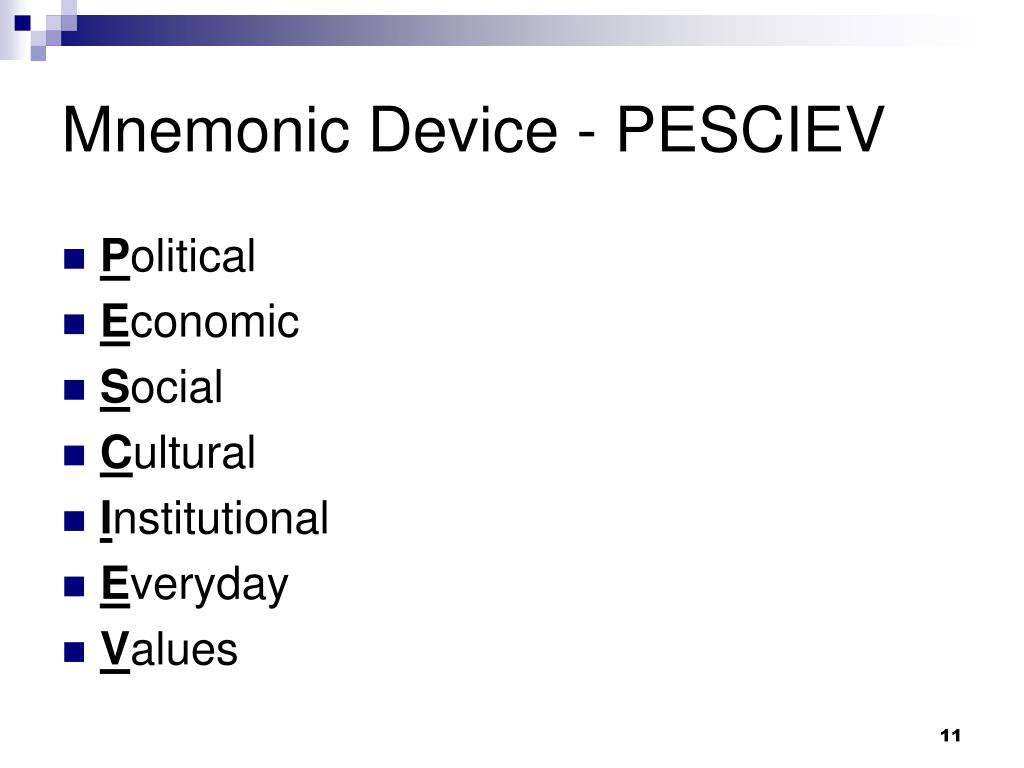 Mnemonic Device - PESCIEV