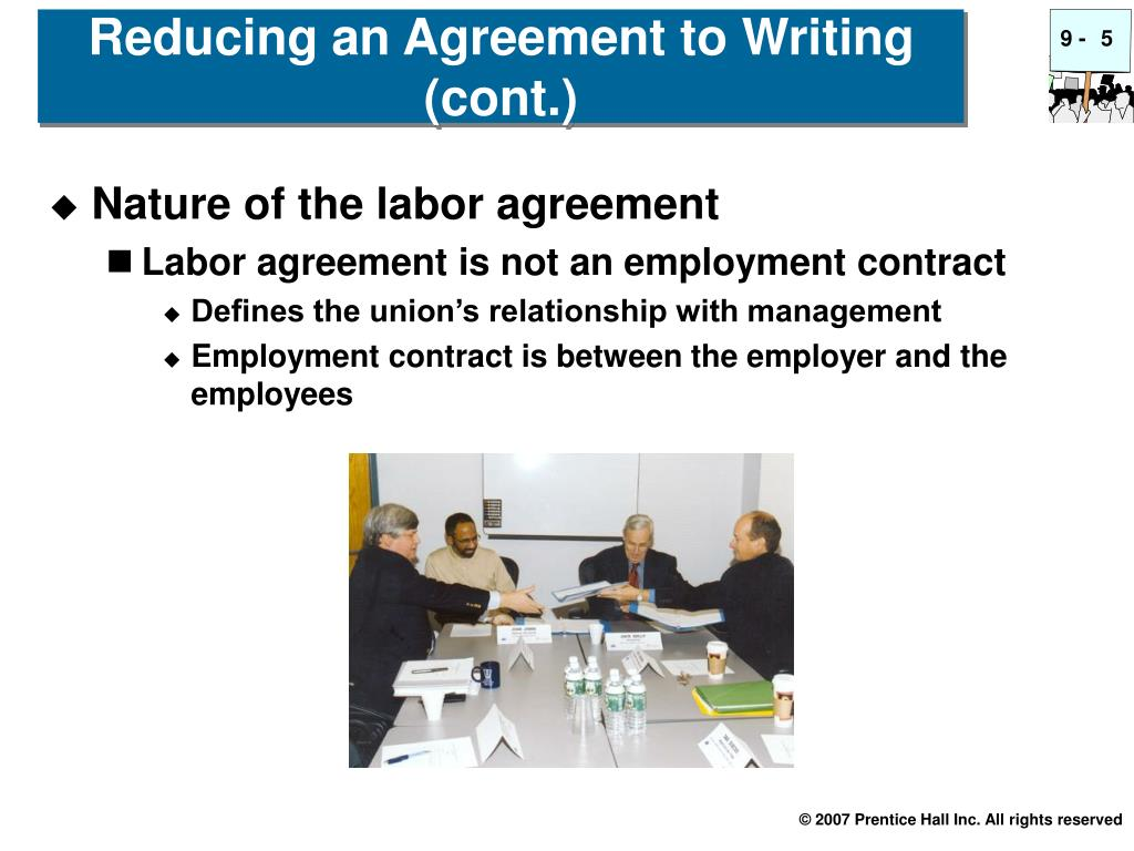 Nature of the labor agreement