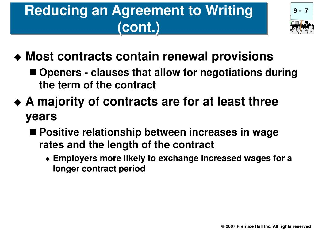 Most contracts contain renewal provisions