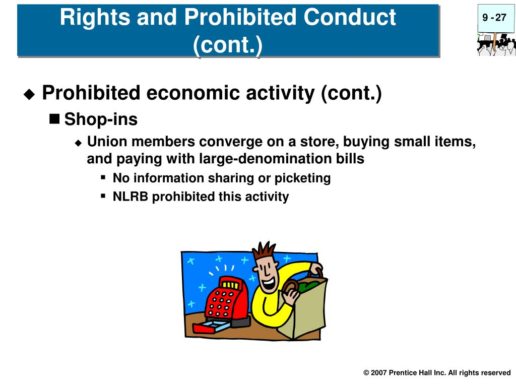 Rights and Prohibited Conduct (cont.)