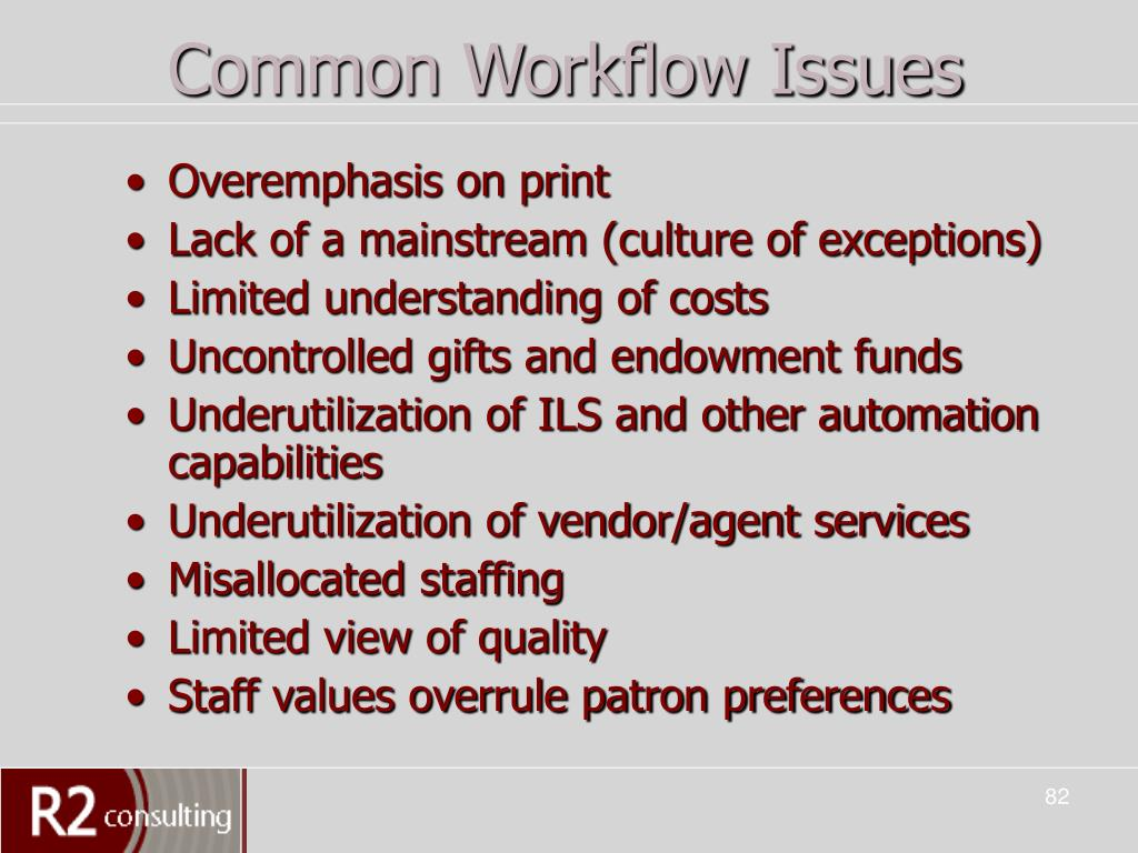 Common Workflow Issues