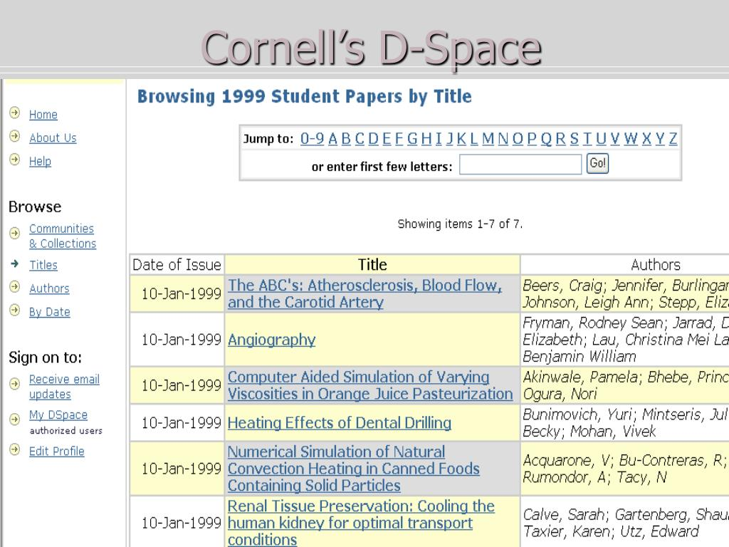 Cornell's D-Space