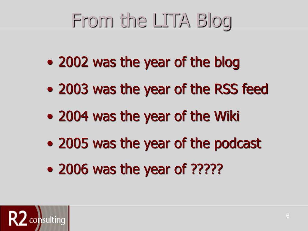 From the LITA Blog