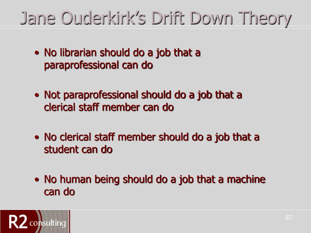 Jane Ouderkirk's Drift Down Theory