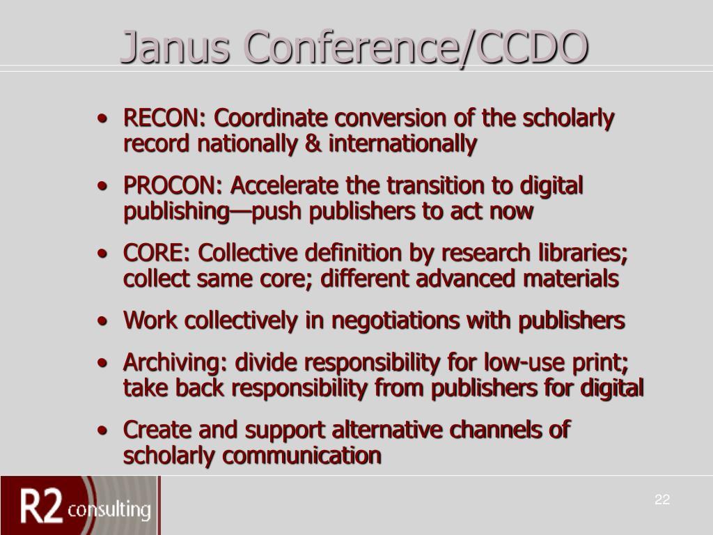 Janus Conference/CCDO