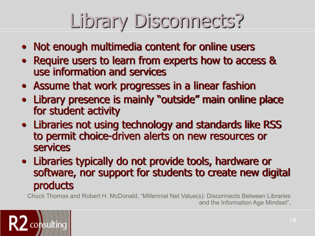 Library Disconnects?