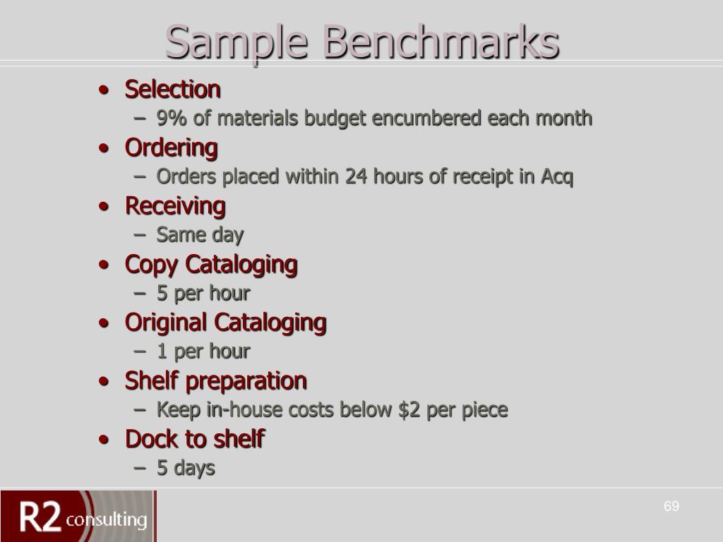 Sample Benchmarks