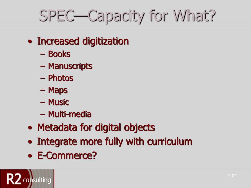 SPEC—Capacity for What?