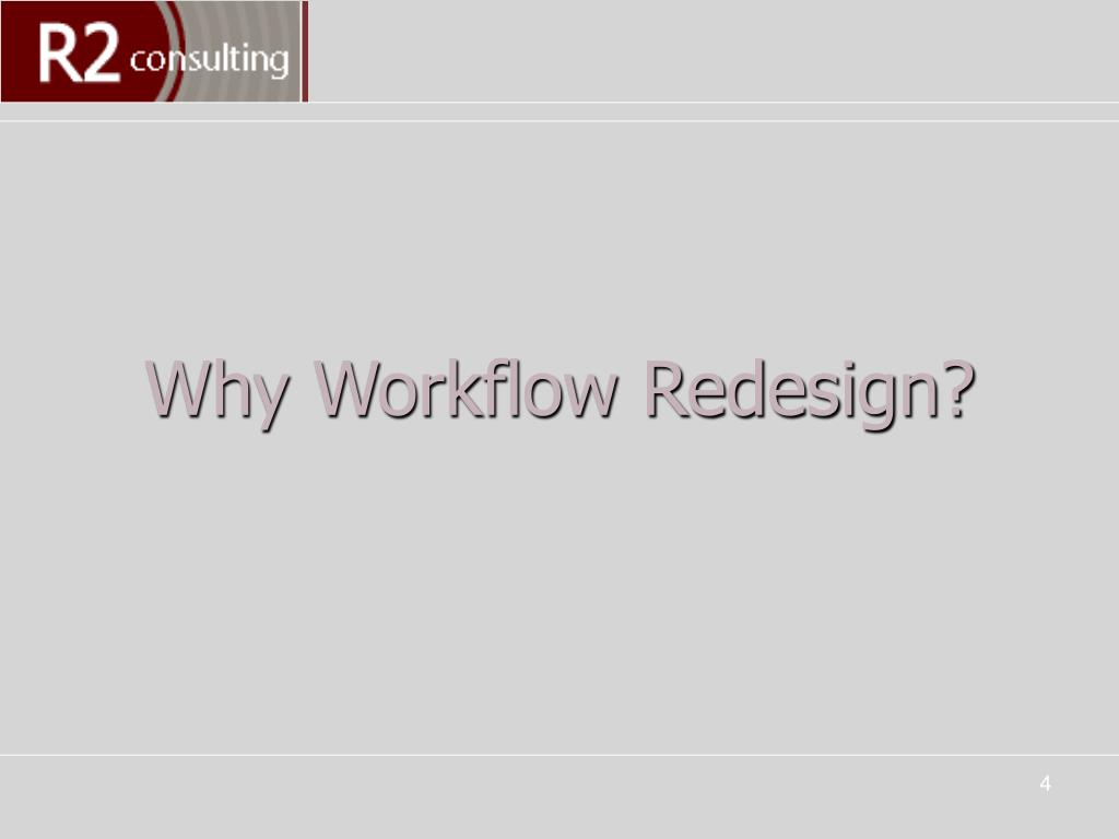 Why Workflow Redesign?
