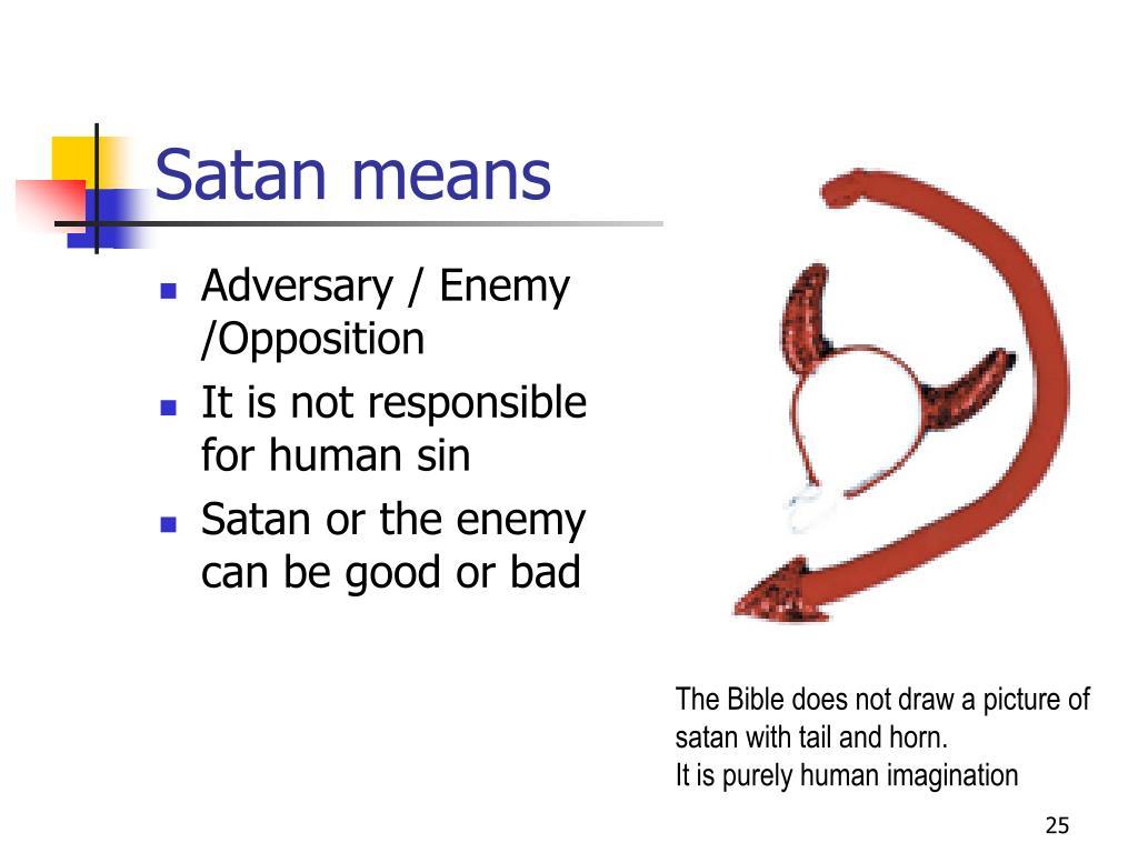Satan means