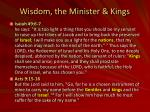 wisdom the minister kings